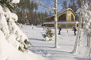 Snowtubing at Valgehobusemägi