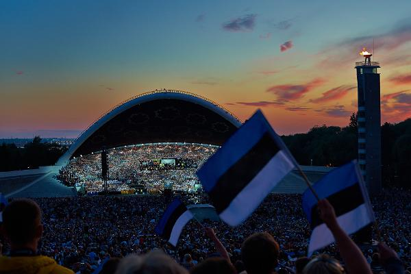 Estonians celebrate their independence on February 24th.