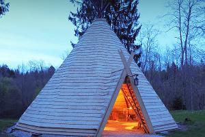 Lahemaa Hiking Centre teepee sauna