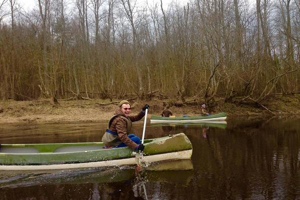 Kanuu.ee 1-day canoe trip on River Sauga