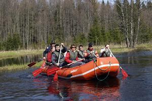 Kanuu.ee raft trip on River Jägala + ZIL safari