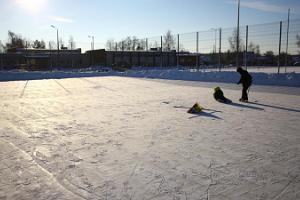 Skridskorink på Hapsals Stadion