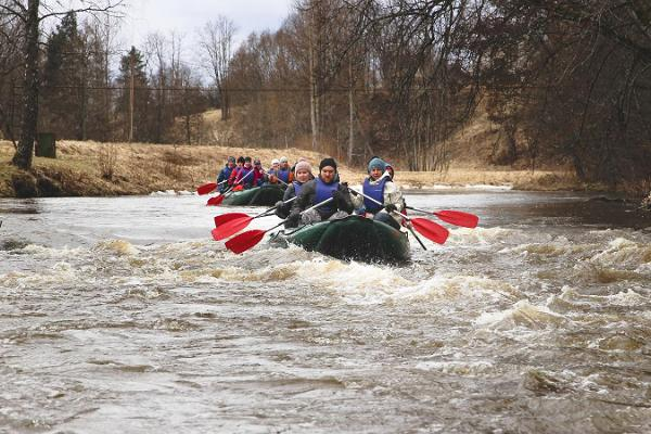 Rafting on River Võhandu