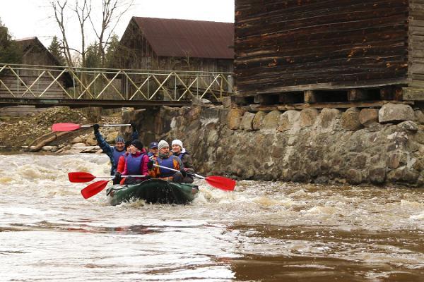 Rafting on River Võhandu