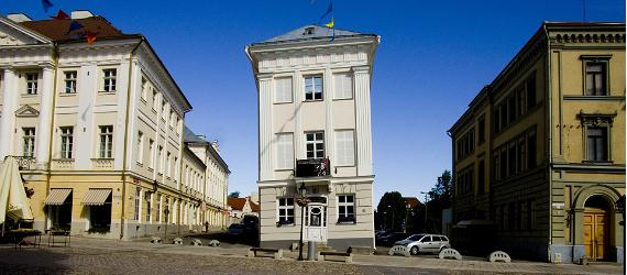 The art museum of Tartu, Estonia leans more than the tower of Pisa!