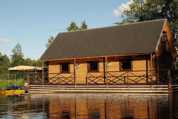 Small raft house on the Vigala River