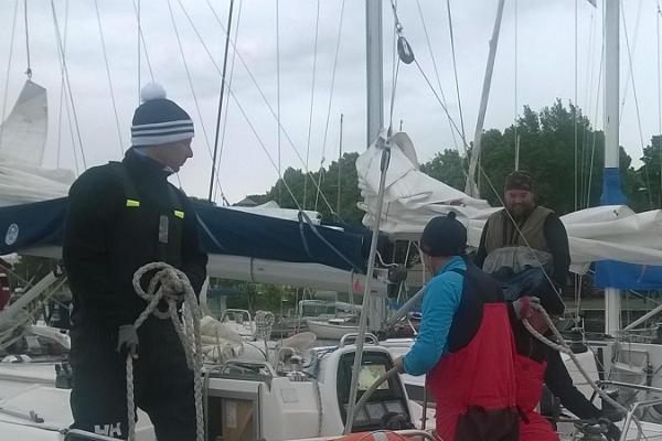 Purjetamine Kihnu saarele jahtlaeval Põhjatäht