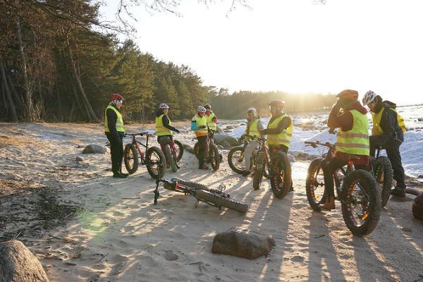 Fatbike-Radtour auf die Steilküste Türisalu