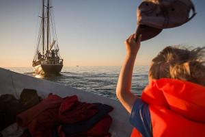 Voyages on the sailing ship Lisette in the waters of Hiiumaa