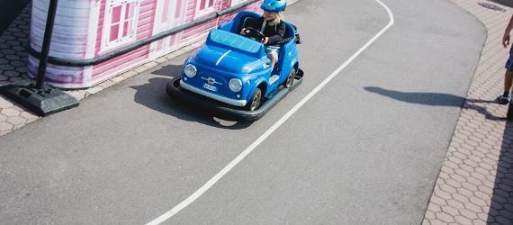 В Музее дороги можно покататься на игрушечных машинах