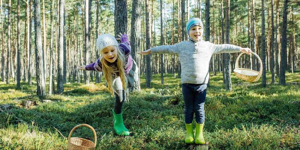 Kids in Estonian nature and hiking trails