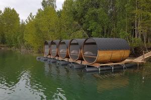 Campingstunnor på vattnet i Paekalda Semestercentrum
