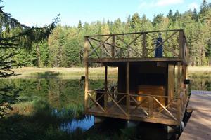 Raft sauna at Tiku Holiday Homes