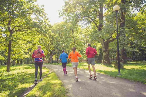 Running in Estonian nature fall 2017