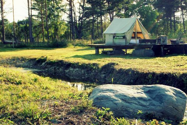 Torni saimniecības brīvdienu mājas, piekrastes grila un kempingu zona