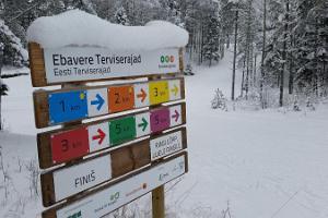 Laufpfade und Skiloipen des Freizeitsportzentrums Ebavere