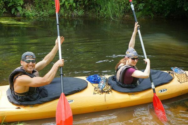 Triju dienu pārgājiens ar smailītēm pa Vehandu upi