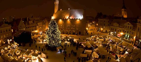 Enjoy holiday shopping and food at the Tallinn Christmas Market