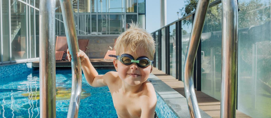visit estonia, children in spa