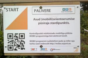 Orientēšanās pastāvīgā trase un mobilā orientēšanās Palliverē
