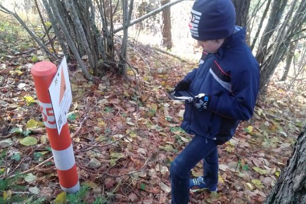 En permanent orienteringsled och mobil orientering i Palivere
