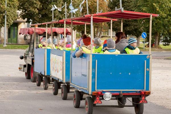 Обзорная поездка по городу Выхма на мини-поезде