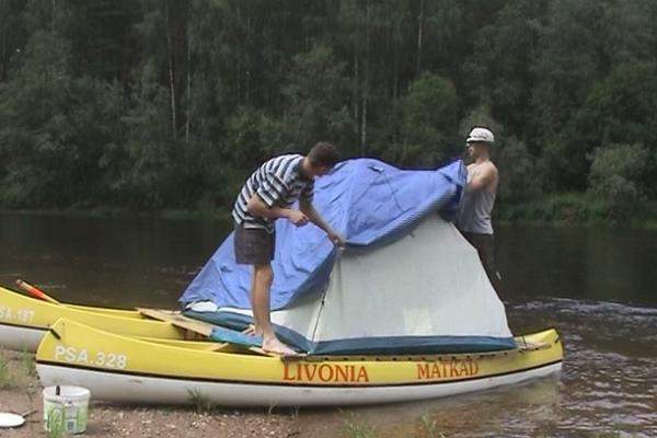 Rafting trip on the beautiful Koiva river