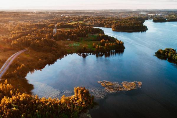 Lake Pühajärv in autumn