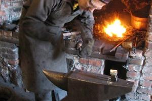 Estonian Agricultural Museum, a blacksmith in a smithy