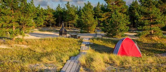 Beach camping Estonia