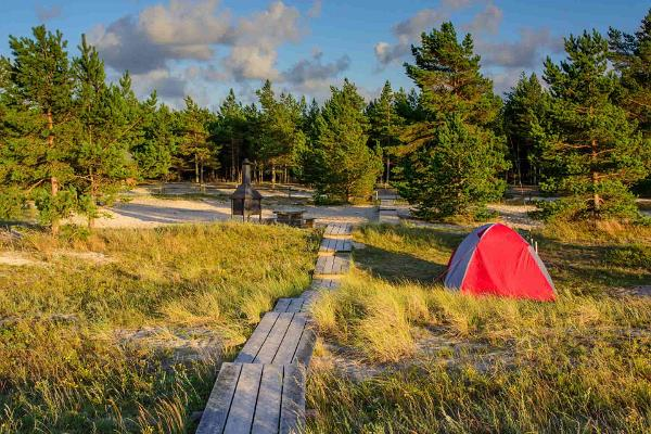 Beach camping Estonia