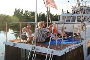Lake Peipus cruises on a pleasure boat