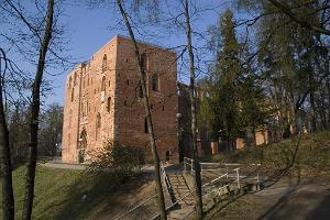 The towers of Tartu Cathedral at the University of Tartu Museum