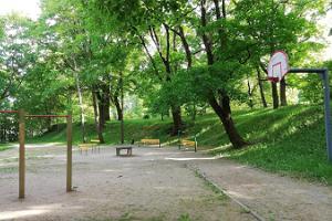 Sports ground on Toomemägi Hill