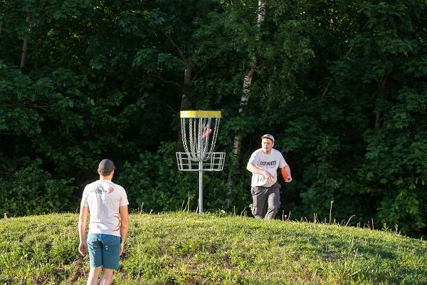 Disc golf at Holstre-Polli Recreation Centre