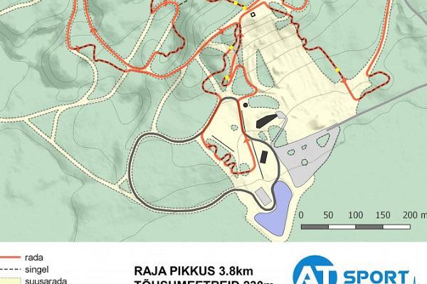 Valgehobusemē kalna velopārgājiena trase