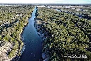 Vattenturer i Aidu stenbrott och på Purtse ån