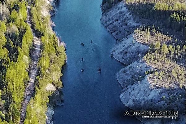 Vesiretket Aidun louhoksella ja Purtsen joella