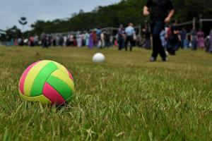 Ball games at the Reiu Holiday Centre