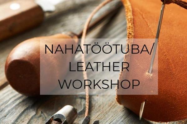 Workshop for making a leather bracelet