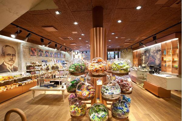 Магазин шоколада «Калев» в квартале Ротерманни