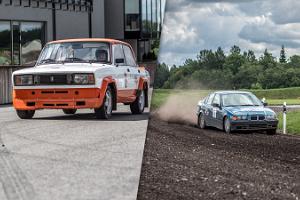 Fahrt mit Rallyeautos im LaitseRallyPark
