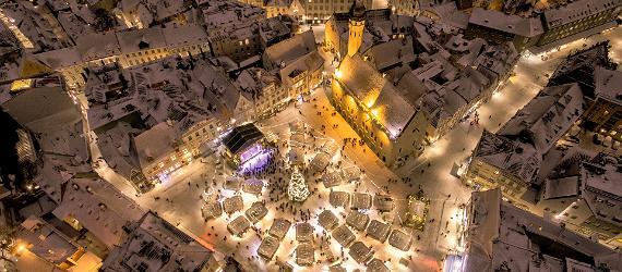 Der Weihnachtsmarkt in der Altstadt von Tallinn