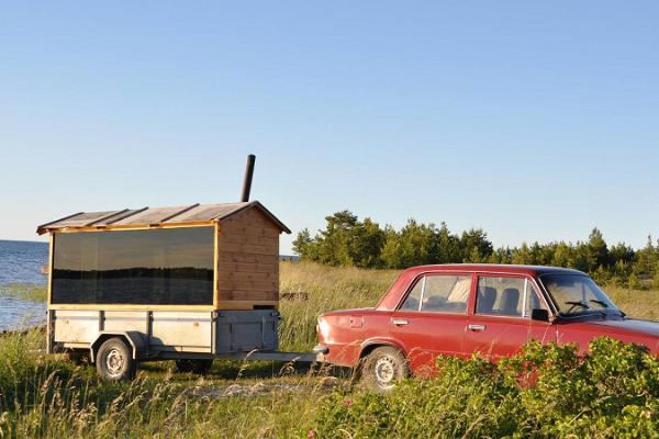 Anhängersauna auf der Insel Hiiumaa (dt. Dagö)