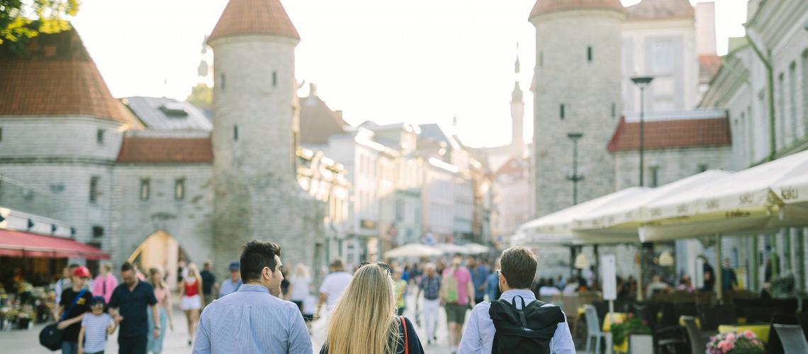 Spaziergang durch die Altstadt von Tallinn