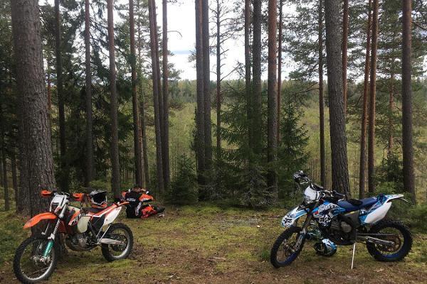 Enduro adventure near Tallinn