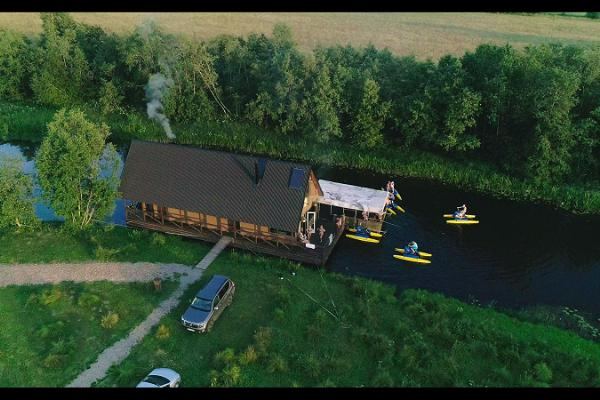 A unique large raft house on the Vigala river