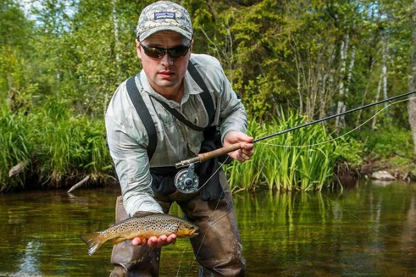 Fly fishing on the best trout rivers in Estonia