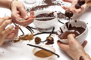 Chocokoon tryffeleiden valmistuspaja