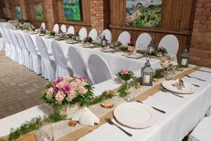 Мыза Луке и мызный парк, праздничный свадебный стол
